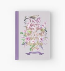 HEBREWS 13:5 Hardcover Journal