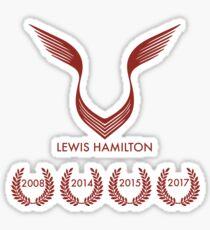 Lewis Hamilton the 4 times world champions Sticker