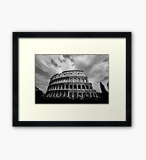 Colosseum in Black and White Framed Print