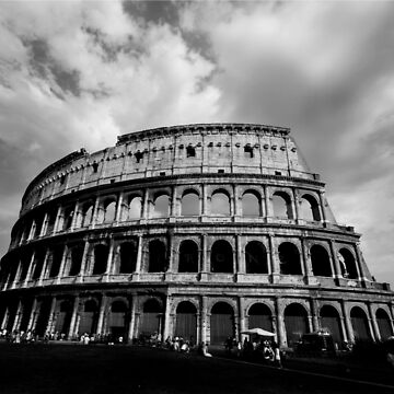 Colosseum in Black and White by purpleelephant