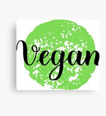 Vegan Handwritten lettering element for labels, logos, badges, stickers or icons. Vegan, vegetarian Canvas Print