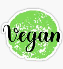 Vegan Handwritten lettering element for labels, logos, badges, stickers or icons. Vegan, vegetarian Sticker