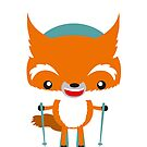 Ski fox by Kopfzirkus