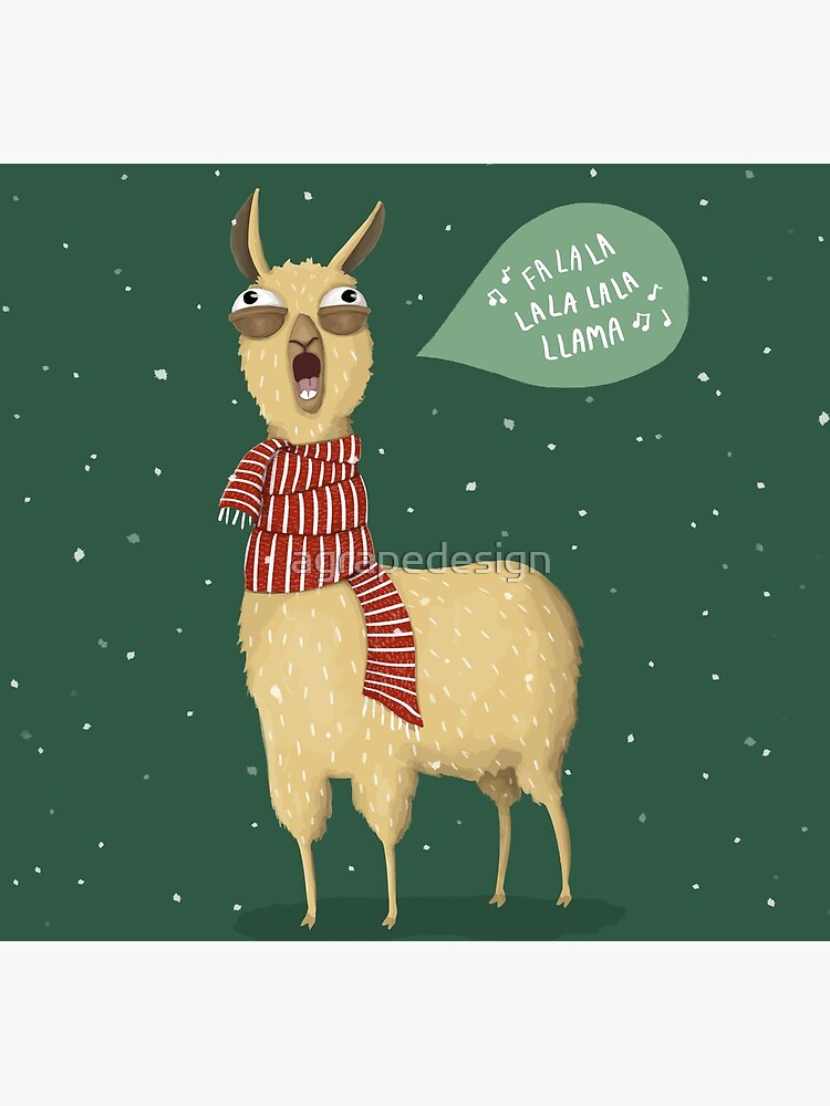 Christmas holiday Llama by agrapedesign