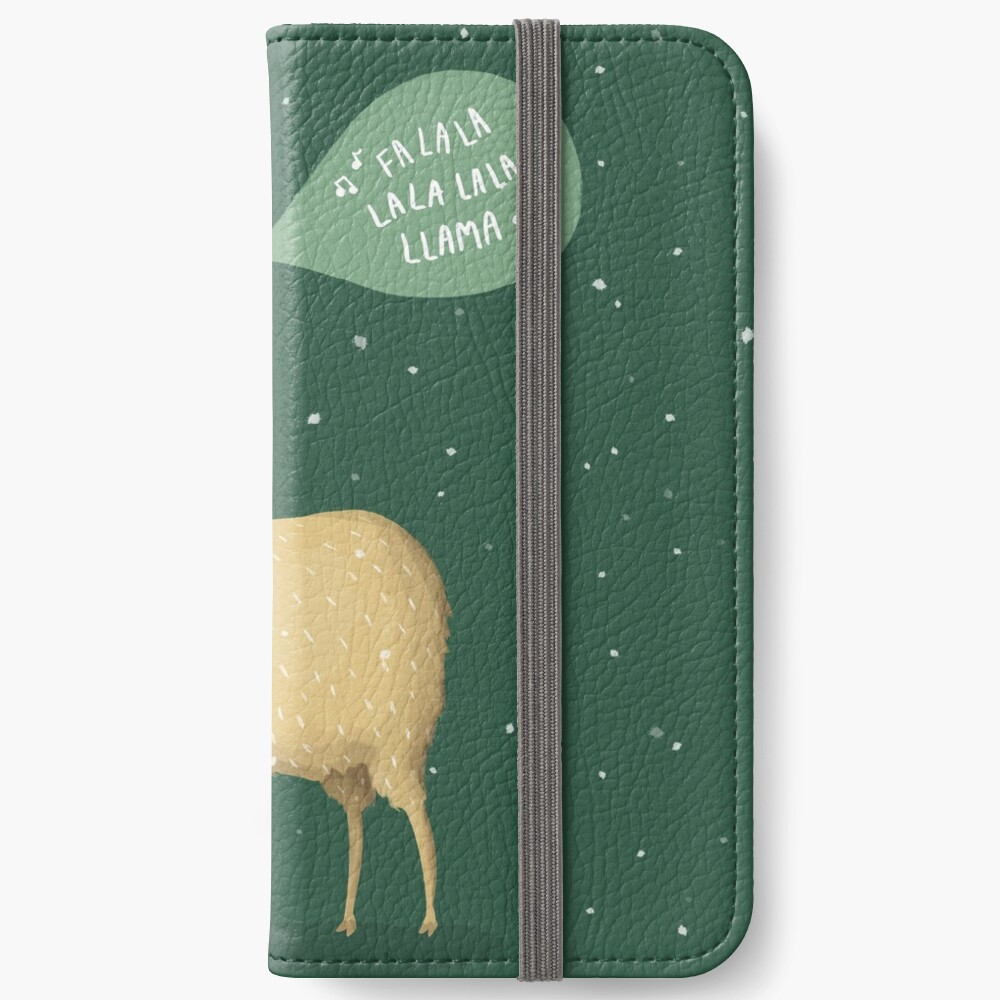 Christmas holiday Llama iPhone Wallet