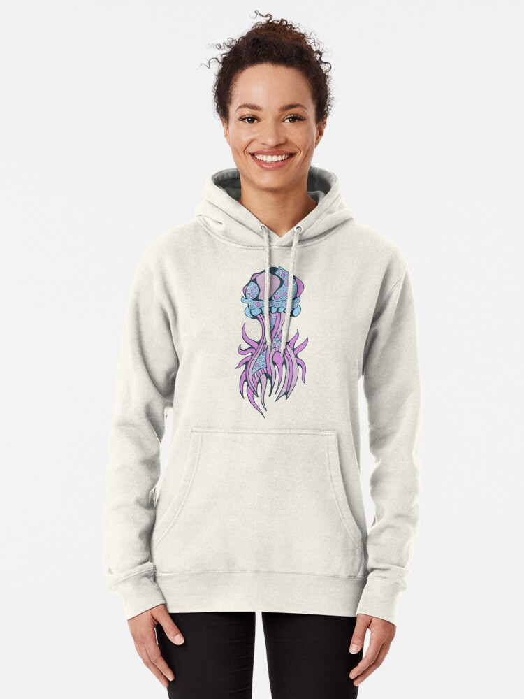 Alternate view of Jellyfish inspiration Pullover Hoodie