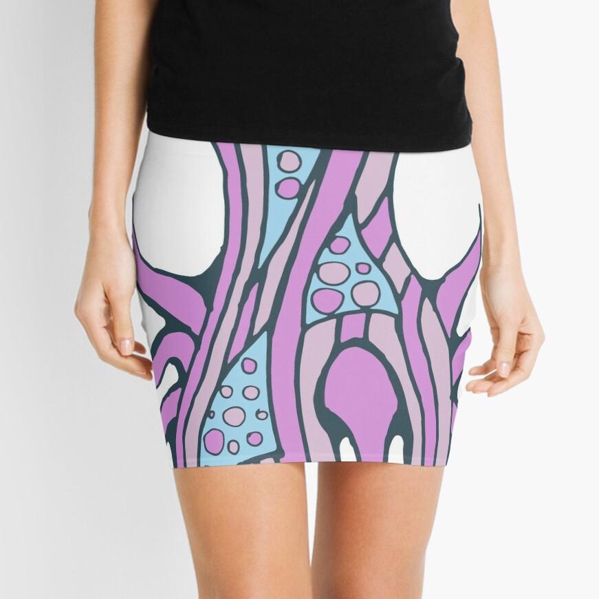 Jellyfish inspiration Mini Skirt