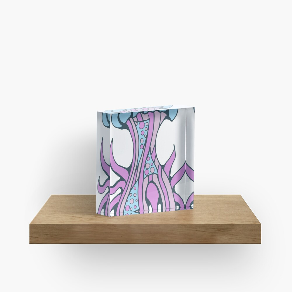 Jellyfish inspiration Acrylic Block