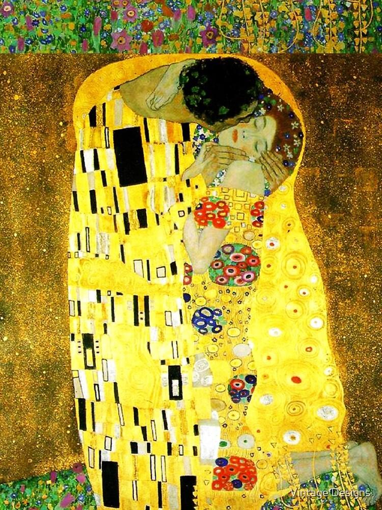 The Kiss by Gustav Klimt by Geekimpact