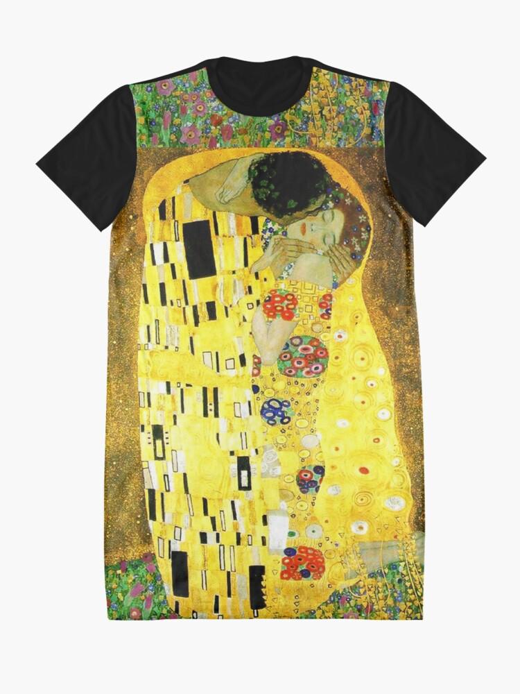 Alternate view of The Kiss by Gustav Klimt Graphic T-Shirt Dress