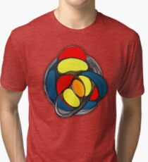 Organiwheel - Abstract drawing and painting Tri-blend T-Shirt