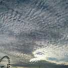 London Eye, Cloudy Sky by TalBright