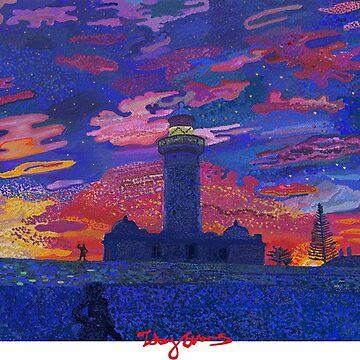 Vaucluse light house  by tobycentreart