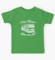 National Lampoons Christmas  - Shitter Was Full (Green) Kids T-Shirt