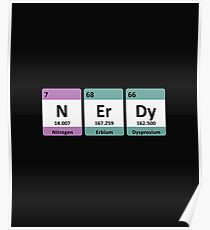 Periodic Table Funny Design - Nerdy Poster