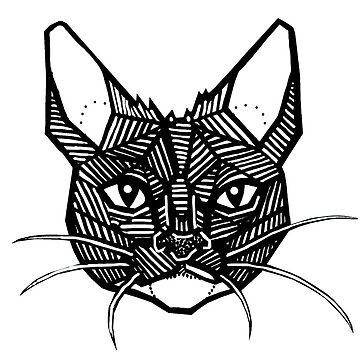 Geometric Cat Tattoo by LeftHandedLenya