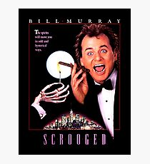 Scrooged - Bill Murray  Photographic Print