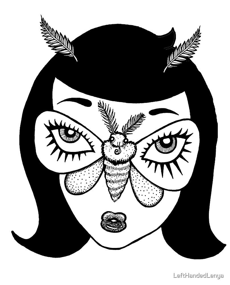Moth Girl! The Amazing Mutant Lepidopteran by LeftHandedLenya