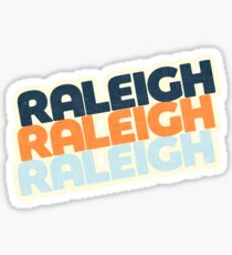 Raleigh, NC   Retro Stack Sticker