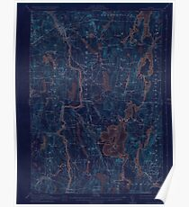 Maine USGS Historical Map Livermore 306646 1912 62500 Inversion Poster