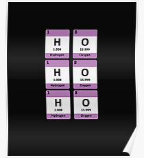 Periodic Table Funny Christmas Design - HO HO HO Poster