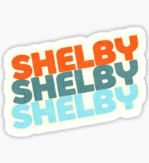 Shelby, NC | Retro Stack Sticker