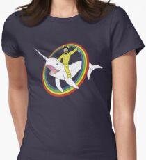Narwhal Rainbow Heisenberg Women's Fitted T-Shirt
