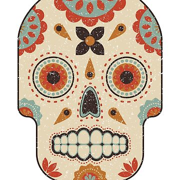 Vintage Sugar Skull Day of the Dead by elfsage