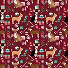 Chihuahua christmas presents dog breed stockings candy canes mittens  by PetFriendly
