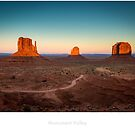 Monument Valley at sunset by Jacinthe Brault