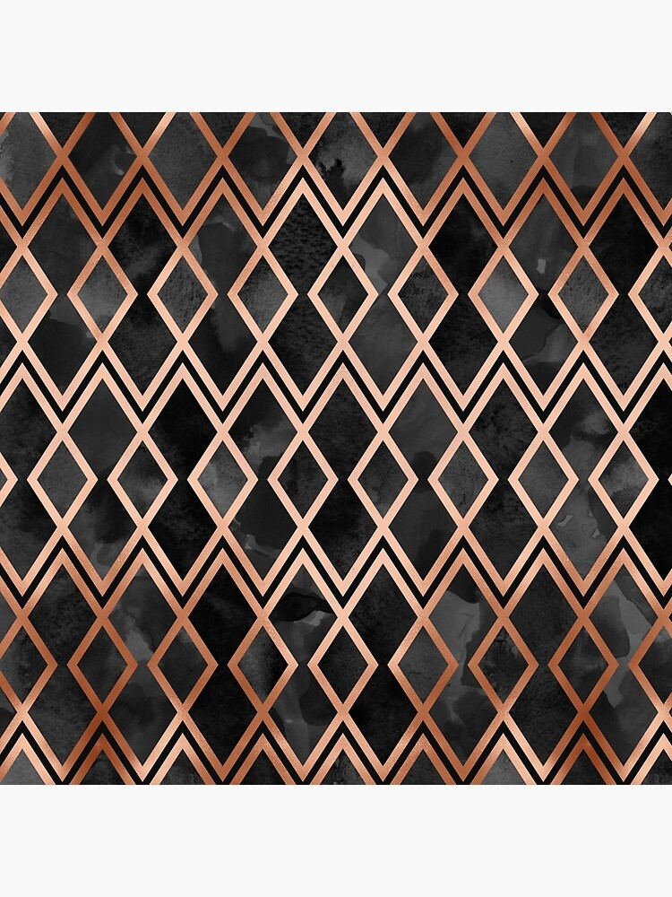 Copper & Black Geo Diamonds by Blue-Banana