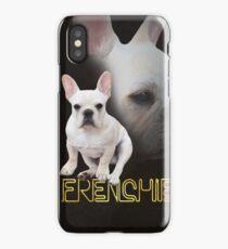 Retro Neon Frenchie Portrait iPhone Case/Skin