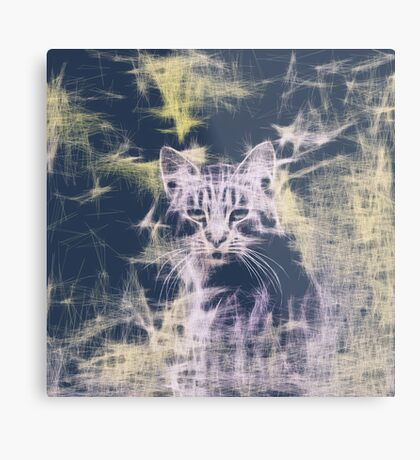 Linify Cat Metal Print