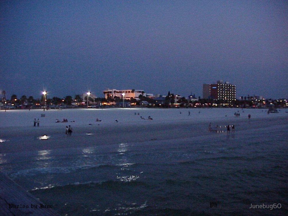 Clearwater Beach at Night by Junebug60