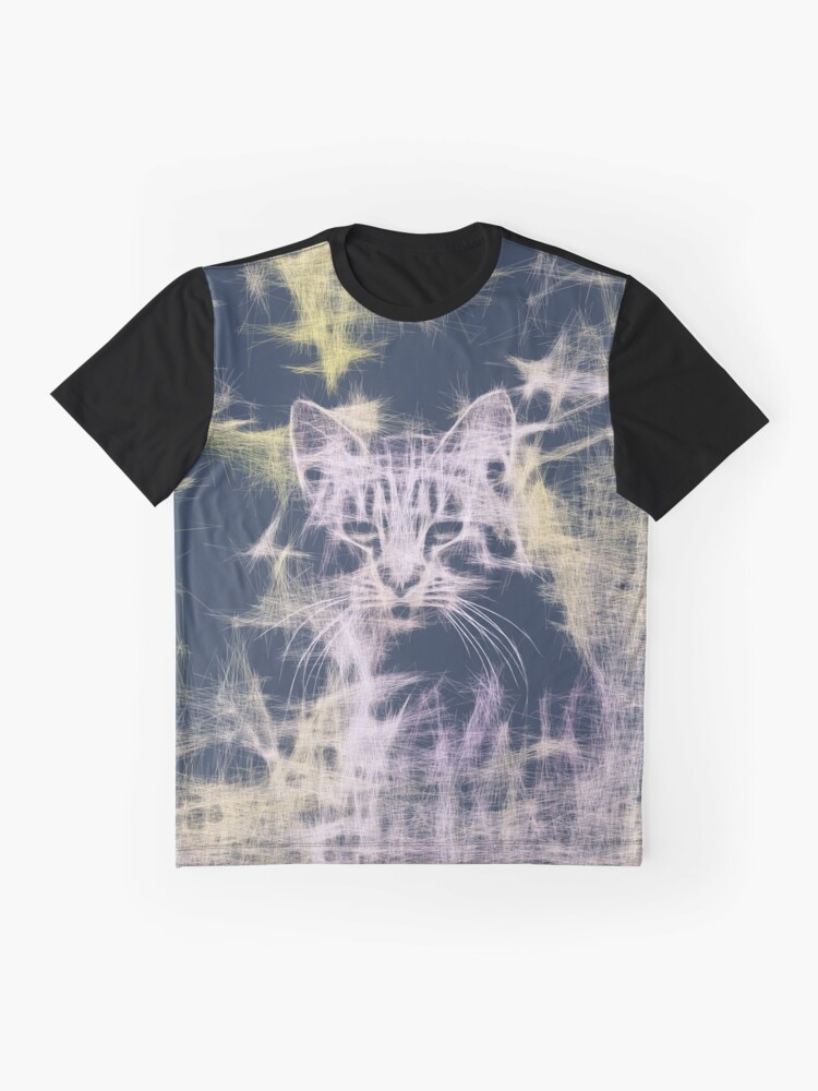 Alternate view of Linify Cat Graphic T-Shirt
