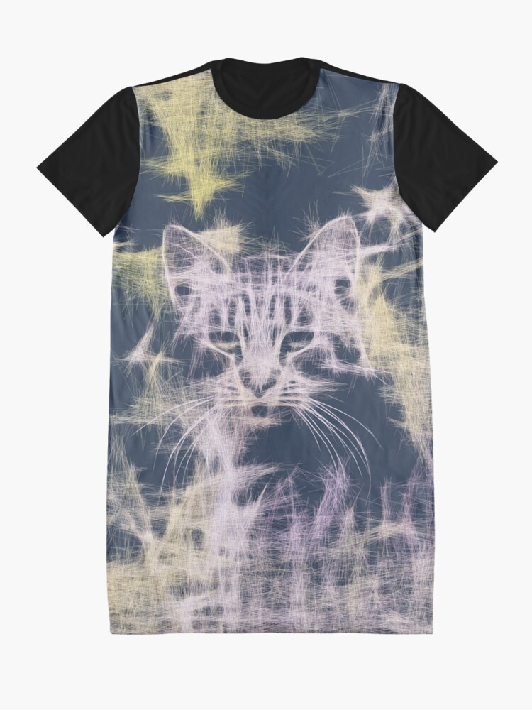 Alternate view of Linify Cat Graphic T-Shirt Dress