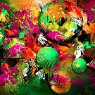Neon Ink - Abstract Art by Renee Dawson