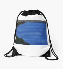 Overcast Ocean Drawstring Bag