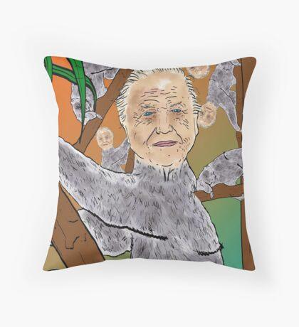 Planet Sir Sloth  Throw Pillow