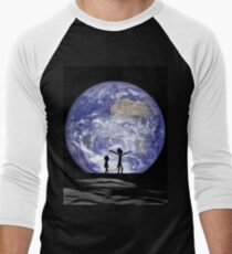 Rick and Morty walking on the moon T-Shirt