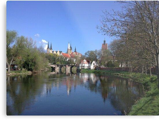 Dom und Schloß Merseburg mit Saale von Gourmetkater