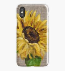 Sun Flower Oil Painting by Angela Brown Art iPhone Case/Skin