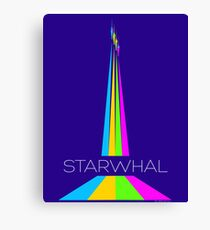 STARWHAL by Breakfall - Flying starwhals poster Leinwanddruck