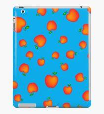 Red Fresh Apple Seamless Pattern on Blue Background iPad Case/Skin