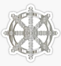 Dharma wheel silver Sticker