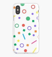 Colorful geometric seamless pattern on white background iPhone Case/Skin
