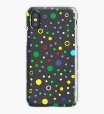 Colorful geometric seamless pattern on dark background iPhone Case/Skin