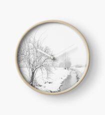 Winter Landscape Clock