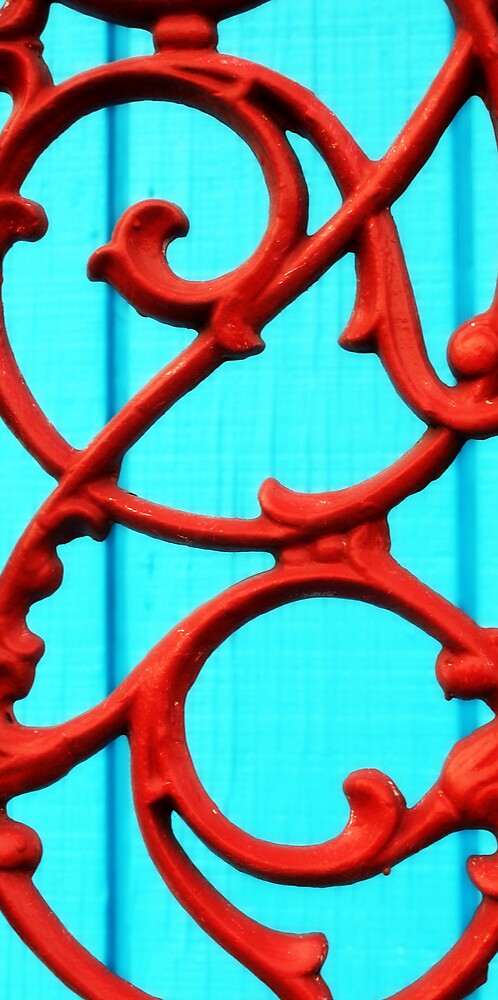 red wrought iron by Shannon Byous Ruddy