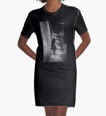 The Golden Saxophone Player Graphic T-Shirt Dress